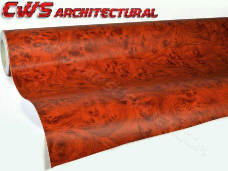rosewood architectural wood grain vinyl wrap
