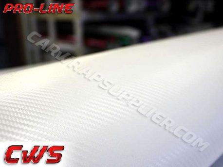 White Carbon Fiber Car Wrap Vinyl Film