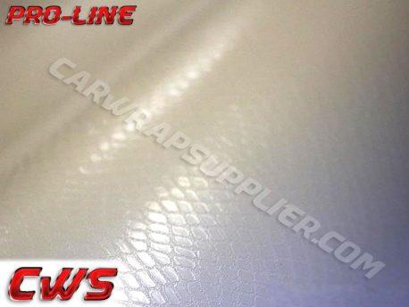 White Snake Skin Vehicle Vinyl Film