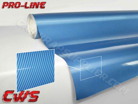 Blue Tech Art Carbon Fiber Car Wrap Vinyl Film