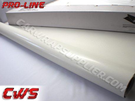 White TrueR Carbon Fiber Car Wrap Vinyl Film