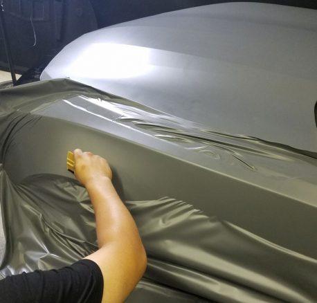 Premium Plus Matte Slate Gray car wrap vinyl film