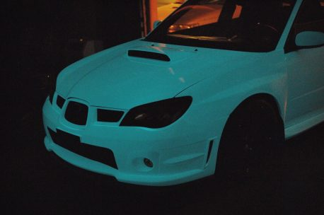 Glow In The Dark Blue Glow car vinyl wrap