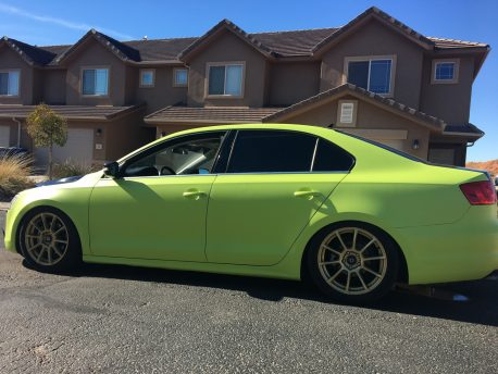 Electric Lime Green Matte Car Wrap Vinyl Film