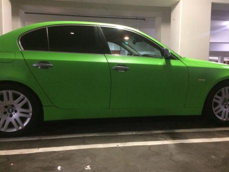 Lime Green Matte Car Wrap Vinyl Film