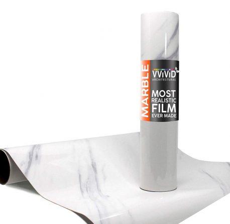 Architectural Slanted Carrara Gloss White Contact Film