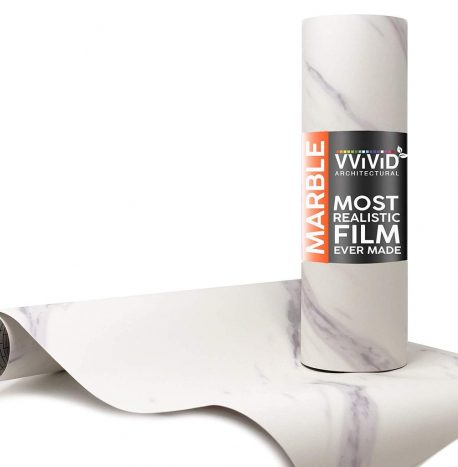 Architectural Slanted Carrara Matte White Contact Film