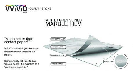 Marble Architectural vinyl wrap