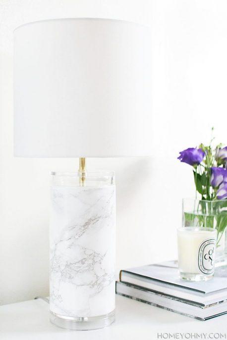 White with gray vein marble vinyl wrap