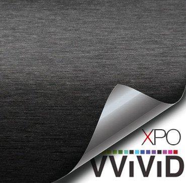 Brushed Aluminum Black Vvivid Vehicle Vinyl Film