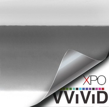 Silver Chrome Vehicle Vinyl Film
