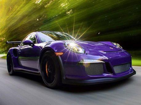 Gloss Midnight Purple Porsche 911 GT3 car wrap vinyl film