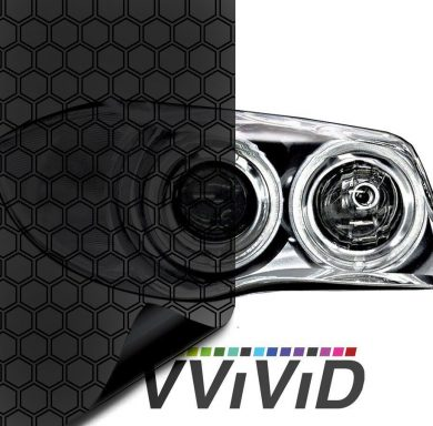 Hex Dark Smoked Headlight Taillight Tint for cars