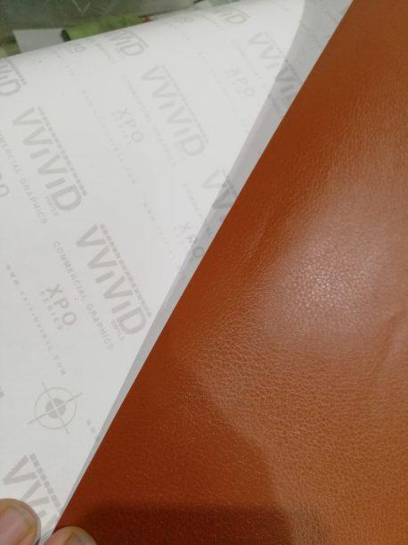 Brown Leather Vehicle Vinyl Film