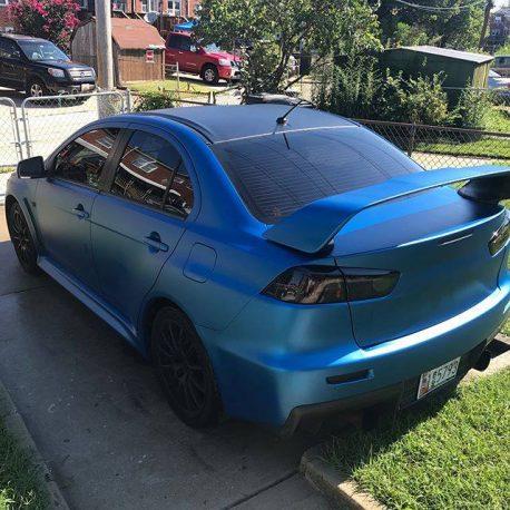 Premium Plus Matte Metallic Blue Ghost car wrap vinyl film