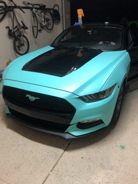 Premium Plus Matte Metallic Tiffany Blue car wrap vinyl film