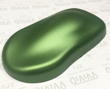 Premium Plus Matte Metallic Green Ghost car wrap vinyl film