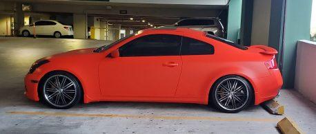 Premium Plus Matte Orange car wrap vinyl film